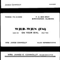 b2f23a - three James Connolly business cards WJLD-WJLN  1952.jpg