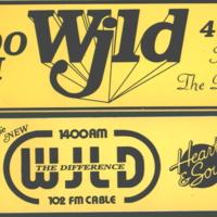 b8f50b - two WJLD bumper stickers - 1986.jpg