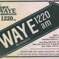 b8f47c - WAYE 1220 AM ad listing announcers - 1985.jpg