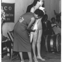 b3f16a - a WBCO contestant having her sash attached - 1954.jpg