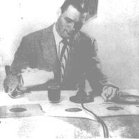 b2f48a - Bob Umbach, possibly at WMBM, Miami - 1953.jpg