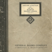 General Radio Co - frequency monitor instruc0001.jpg