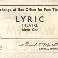 b2f34d - WJLD promo gift ticket to Lyric - 1952.jpg