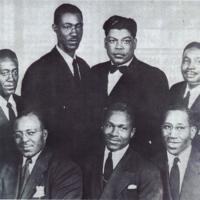 """Perry """"Tiger"""" Thompson with the Sterling Jubiliees, also known as the CIO Singers, 1954"""