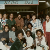 Approx 1974 - (l-r) Larry Levan and James Freeman at WJLD remote from the Willie Mckinstry scrapbook.jpg