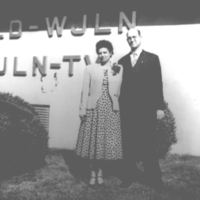 b2f49a - Ben Franklin and wife at WJLD Red Mountain - 1950s.jpg