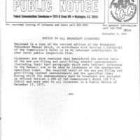 b6f37a - FCC Public Notice for Broadcast Procedure Manual - 1974.jpg