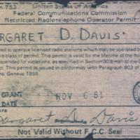 b8f7a - Margaret (Margie) Davis FCC operating permit - 1981.jpg
