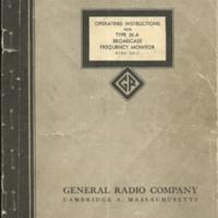 General Radio Co - frequency monitor instruc0001.jpg