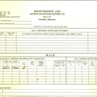 b8f41a - Maintenance log - WJLD transmitter - Jan 29, 1986.jpg