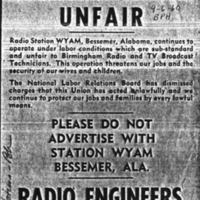 b4f8a - A call to boycott WYAM by the IBEW - 1960.jpg